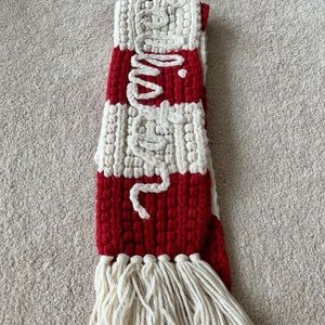 Hollister red and white scarf